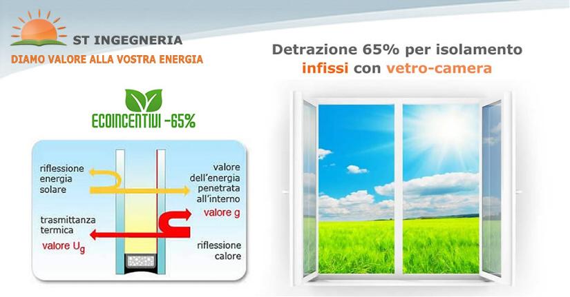 Detrazione Fiscale 65 per isolamento termico INFISSI CON VETRO-CAMERA